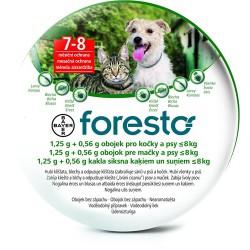 Bayer Foresto - obroża przeciw kleszczom, pchłom dla psów, kotów do 8kg