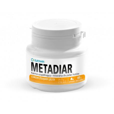 Eurowet Metadiar - 60g - proszek wspomagający przewód pokarmowy u psów, kotów