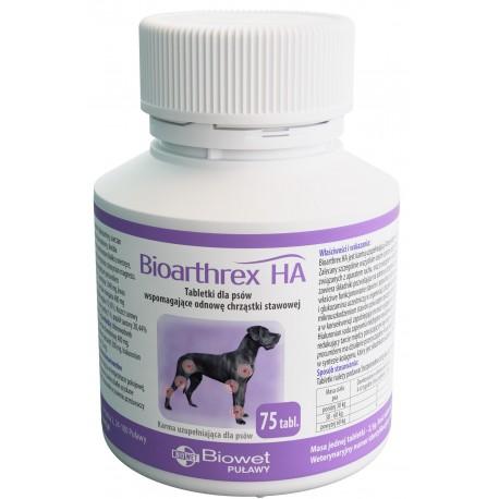 Biowet Bioarthrex HA - 75 tabl. - preparat na stawy dla psów