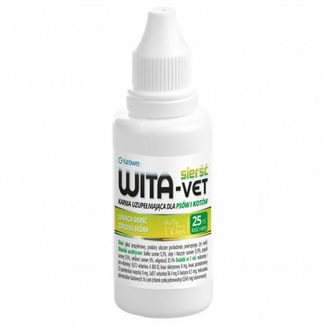 Eurowet Wita-Vet - 25 ml - regenerator sierści dla psów, kotów