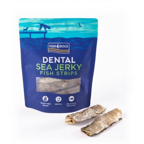 Fish4Dogs Dental Sea Jerky Fish Strips - 100g - przysmaki dentystyczne dla psów
