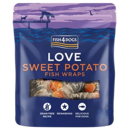 Fish4Dogs Love Sweet Potato Fish Wraps - 100g - przysmaki dla psów