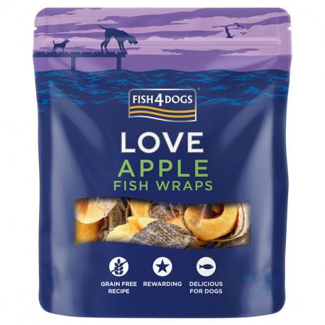 Fish4Dogs Love Apple Fish Wraps - 90g - przysmaki dla psów