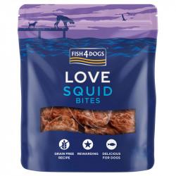 Fish4Dogs Love Squid Bites - 80g - przysmaki z kałamarnic dla psów