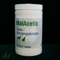 Dechra MalAcetic Wipes - 100 sztuk - chusteczki czyszczące dla zwierząt